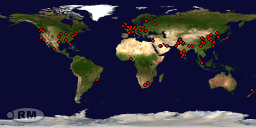 Website stats map